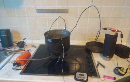 Тесты горелок и способов кипячения воды